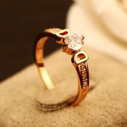 18K Gold Plated Finger Ring Fashion Letter D Charming Ring for Women Wedding Party Cubic Zirconia Ring Indian Jewelry Costume Accessories