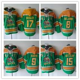 Anaheim Ducks Hockey Men Jerseys 8 Teemu Selanne 9 paul kariya 10 corey perry 15 Ryan Getzlaf Hockey Hoodie Hooded Sweatshirt Jackets Jersey