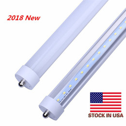 LED Light Tube 45W Replacement 100W Fluorescent Lamp Shop Lights 8FT T8 Single Pin FA8 Base Dual-Ended Power Cold White 6000K AC85-265V