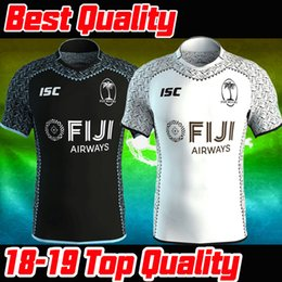 Best Quality2018 2019 FIJI Home away rugby Jerseys NRL National Rugby League shirt nrl jersey fiji unionmaillot Maglia men shirts Size S-3XL