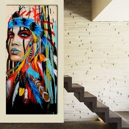 Wall Art Pictures For Living Room Indian Butiful Girl Home Decor Canvas Painting No Frame Posters and Prints