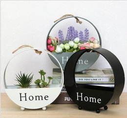 Wholesale Flower Pot Planters For Wedding Decor Vintage Iron Hanging Racks For Fake Plants Flower Indoor Decor Country Style Garden Supplies