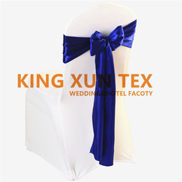 100pcs Satin Chair Sash \ Chair Bow Fit On Wedding Chair Cover Free Shipping