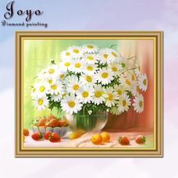 Joyo,DIY diamond cross stitch, beautiful chrysanthemum, beautiful white, home decor, restaurant decoration, perfect design, beautiful gift