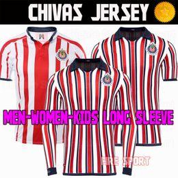 Chivas de Guadalajara 2018 Japan World Cup Soccer Jerseys Long Sleeve Kit New Arrived Thailand MEXICO Club 18 19 Kids Women football shirt