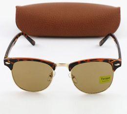 1pcs Brand New Sunglasses TxrpprTortoise Metal Frame Brown lens Unisex Goggle Driving Sun Glasses Eyewear Accessories