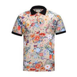 New explosions men's formal printing polo shirt 100 % cotton short sleeve polo neck men's polo shirt m - 3xl