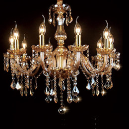 Fashion Modern Crystal Chandelier Dinning Room Lamp candelabra crystal chandeliers Candle For Home european candle chandeliers