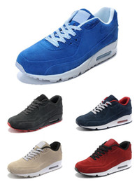 High Quality Mens Sneakers Shoes Classic 90 Men and women Running Shoes Sports Trainer Air Cushion 90 Surface Breathable Sports Shoes 36-45