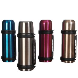 1200ml thermos bottle double wall stainless steel vacuum bottle wide mouth with hand grip thermal insulation outdoor water bottle