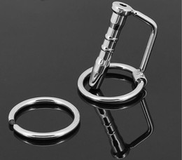 2018 Male 304 Stainless Steel Bondage Catheter Tube W Cock Ring Urethral Sounding Stretching Stimulate Penis Plug Adult BDSM Sex Toy A025