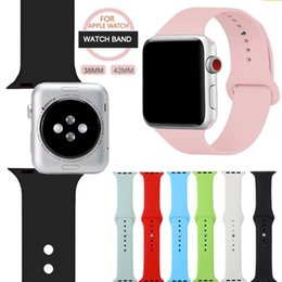 Sport Band for Apple Watch 42mm 38mm, Soft Silicone Strap Replacement iWatch Bands, Series 3, Series 2, Series 1 S M M