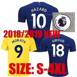 SIZE:S-4XL HAZARD Soccer Jersey 2017 2018 MORATA Willian HAZARD KANTE WILLIAN DAVID LUIZ Football Shirts