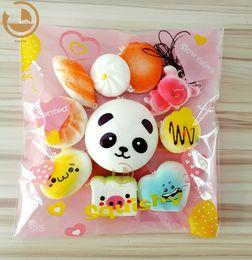 10Pcs Jumbo Medium Mini Random Squishy Soft Panda Bread Cake Buns Phone Straps Best Wholesale Price