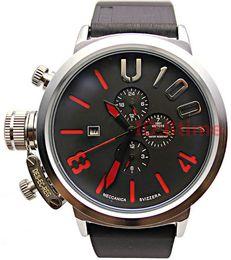 2018 marca de lujo para hombre deportes dial grande caucho clásico barco ronda cronógrafo automático automático autovientos gancho izquierdo mano U relojes