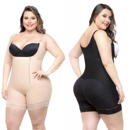 Cheap Plus Size Women Body Shapers Shapewear Underbust Corset Waist Cincher Trainer Bodysuits Slim Butt Lifter Shapers CPA1122