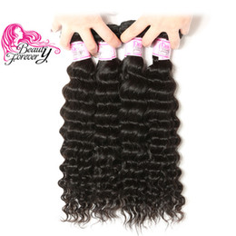 Beauty Forever Brazilian Hair Deep Wave 4 Bundles Top Quality 12-26inch Human Hair Weave Natural Color Wholesale Hair Extension Free Ship