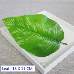 200PCS big leaves Artificial fake rose flower vine leaf diy flower bouquet material decoration