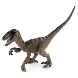 100PCS Jurassic World Park Velociraptor Dinosaur Model Toys Animal Plastic PVC Action Figure Toys for Kids Gifts WJ126