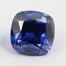 free shipping 50pcs lot cubic zirconia blue square cushion cut loose gem stones
