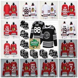 2019 Winter Classic Chicago Blackhawks Hockey 19 Jonathan Toews 88 Patrick Kane 7 12 Duncan Keith Clark 00Hossa Corey Crawford Jersey