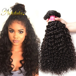 Nadula Brazilian Kinky Curly Hair 3 Bundles Brazilian Virgin Hair Weave Bundles 100% Remy Human Hair Extensions Cheap Wholesale Wefts Bulk