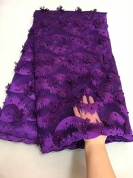 Free shipping 5 yards embroidery French Lace African Lace fabric tulle lace top quality
