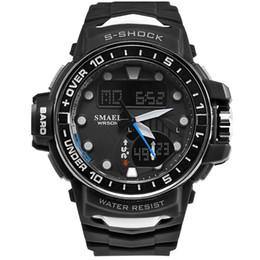 2018 SMAEL NUEVO Producto Reloj de hombre Deporte al aire libre Impermeable Económico y práctico Reloj de pulsera LED digital de alta calidad 1626