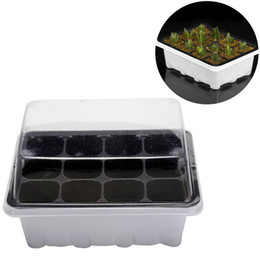 Mini Flower Pots Plug Trays 12 Cells Hole Outdoor Nursery Pot Plant Seeds Grow Box Garden Tools 3 pieces Set