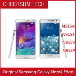 Refurbished Samsung Galaxy Note 4 Edge N915A N915T N915P N915V N915F Unlocked Cell Phone 3GB 32GB 5.6 inch Multi-Touch 16MP mobile phone