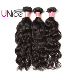 UNice Hair Virgin Human Hair Weaves Brazilian Natural Wave 3 Bundles Indian Peruvian Malaysian Hair Weave Wholesale Nice Curl Cheap Bulk