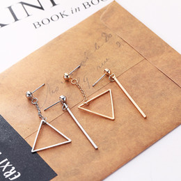Triangle Dangle pendants women Fans Potter Fashion Jewelry Drop Shipping Earring Woman Fashion Minimal Geometry Earring OEM Wholesale 88600Z