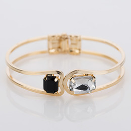 Fashion Women Bracelet gold color Elegant Jewelry Fashion Bud Crystal Bracelets Bangles Christmas Gifts For Women B004