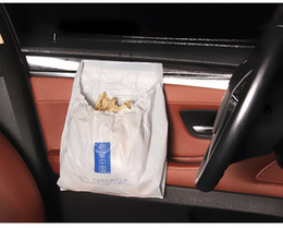 Car Garbage Bag White Recycled Bag Stowing&Tiding Auto Interior Necessory Bag for Car Home Office Playgroud 3 PCS Bag