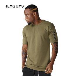 HEYGUYS cotton t shirts mens new summer street wear hip hop T-SHIRTS 2018 brand fashion zipper t-shirts pure color brand new design