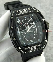 Luxury Brand Gold Sports Diamond Skeleton Men Watches Watch Quartz Hour Clock Sport Mens skull BIG WristWatch Relogio automatic Masculino