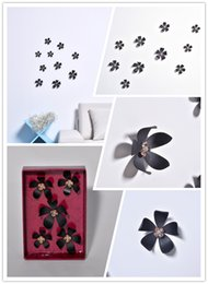 (Promotion: Buy 1 get 1 free)Flower 3D Wall Stickers Black color(5pcs box)