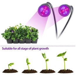Indoor lighting 10W double head clip plant light LED red blue light grow plant lights