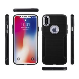 Brushed design For Apple iPhone X Case Ultra Thin Cover Shell Hard PC+Soft TPU Back Cover for iphoneX Phone Cases