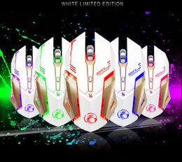iMice Professional Custom Macro Wired Gaming Mouse 4000DPI 6Buttons LED Optical Computer Mouse Mice Gamer For PC Laptop Game V8