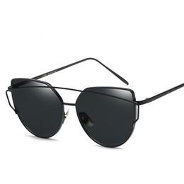2018 New Ladies European And American Fashion Sunglasses Metal Reflective Plane Lens Retro Sunglasses