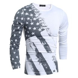 2019 Spring new the casual slim long-sleeved thin T-shirt of men fashion wild bottoming shirt