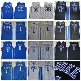 College Basketball Duke Blue Devils 35 Marvin Bagley Jersey III Hill 1 Kyrie Irving 0 Jayson Tatum University Black White Blue Man Stitched