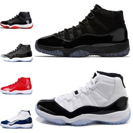Mens Basketball Shoes Concord 11 11s Prom Night Men blackout Easter Gym Red Midnight Navy Barons Closing Bred Ceremony sport sneakers 5-13