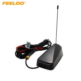 FEELDO Car SMA Connector Active TV Antenna Aerial With Built-in Amplifier For Digital TV #948
