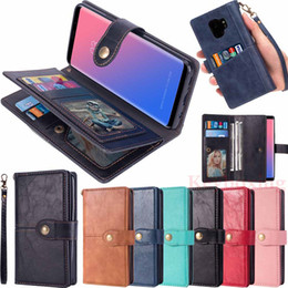 For Samsung Galaxy Note 9 8 S7 S8 S9 Plus J3 J7 2018 Phone Case Cover Card Wallet Flip Leather Stand