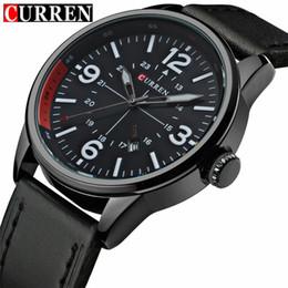 2018Men's Land Fa Relogio Masculino Fashion Montre Homme Reloj Hombre Quartz Watch Curren Male Watch Leather Wristwatches Men Curren Watches