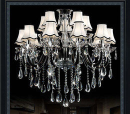 Living room crystal chandeliers European atmosphere restaurant light bedroom simple modern led lights black l candle hall lighti