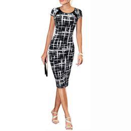 Sexy dress 2018 Printed short sleeve bandage summer women's dress