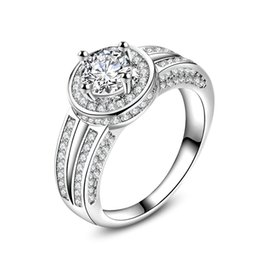 Trendy 925 Sterling Silver Ring CZ For Women Valentine's Day Gift Fine Jewelry Wedding Ring For Lovers